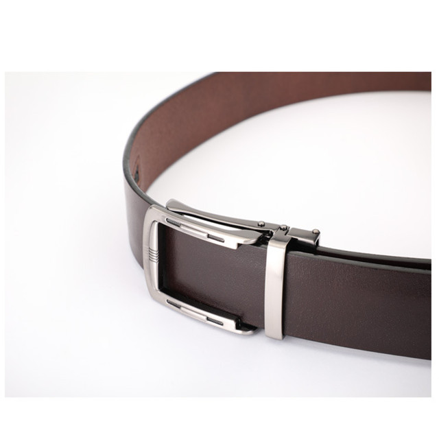 2020 New Men's Automatic Buckle Leather Belt Business 100 Strap Belt European Fashion Cowhide Belt