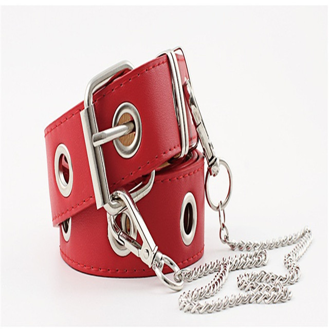 New Leather Belt Original Design Ring Ladies Belt Chain Punk Agitation Spot Supply