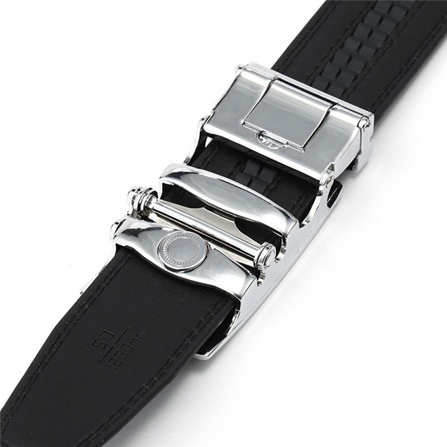 Men's Belt Automatically Buckle Stand Belt Men Fashion Business Custom Chain Belt Body Buckle Leather Waist