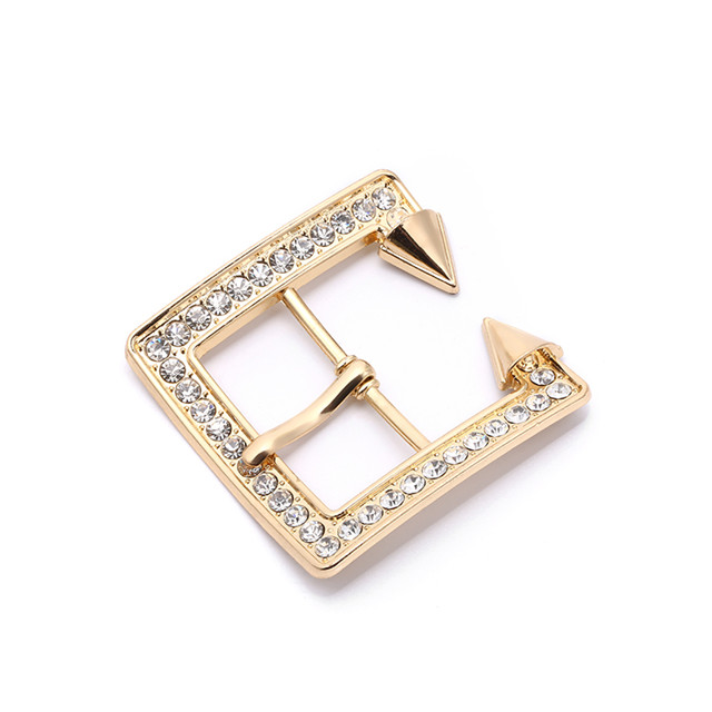 Custom Design Women's Rhinestone Belt Buckle for Decoration Shiny Quality Buckle Cool