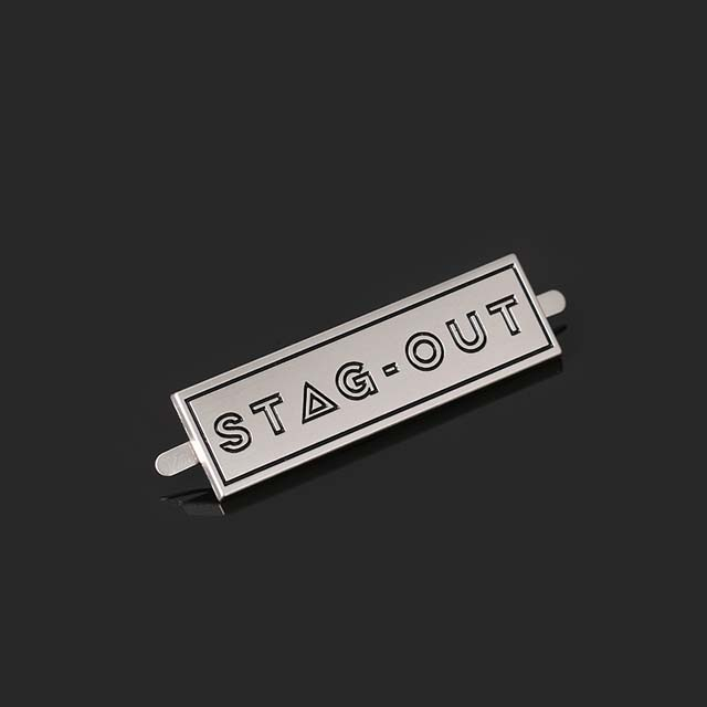 Garment Oem 3D Fashion Jeans Small Tag Engraved Letter Brand Custom Metal Logo Label For Sewing