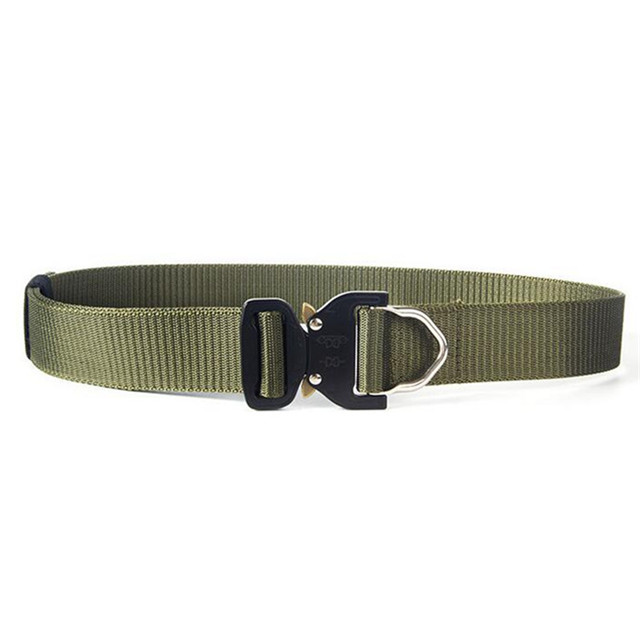Wholesale Tactical Belts Nylon Military Belt with Metal Buckle High Strength Adjustable Training Hunting Belt Accessories
