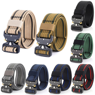 Heavy Duty Tactical Waist Belt Military Nylon Men Army Combat Belt Training Hunting Accessories with Metal Buckle