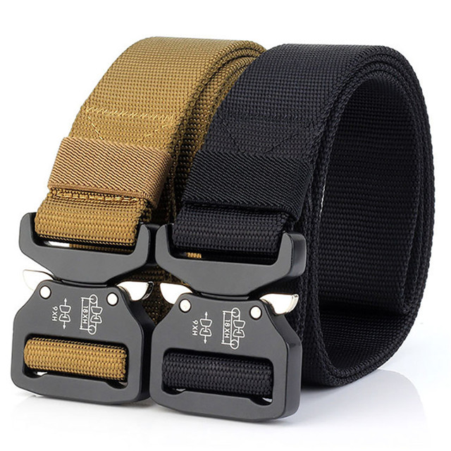 Custom Outdoor Tactical Belt Nylon Military Style Webbing Riggers Belt For Hiking And Traveling