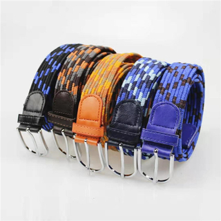 High Quality New Design Elastic Braided Men's Woven Stretch Belt for Jeans