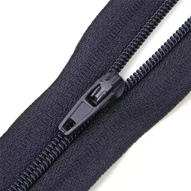 Open End Nylon Zipper #3 Custom Plastic Waterproof Invisible Metal Puller