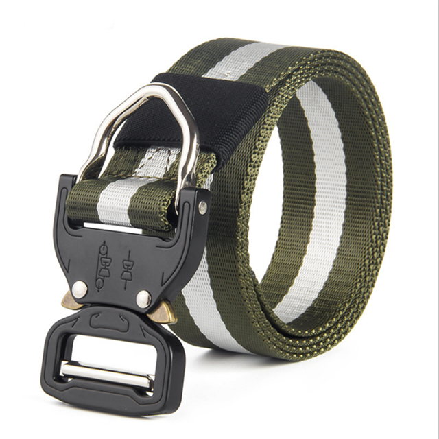 1.5inch Tan Tactical Military Camouflage Cobra Belt Buckle for Police Men Durable Nylon Belt