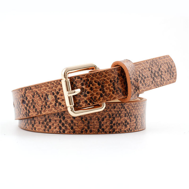 Snake Imitation Leather PU Women's Belt for Decoration Fashion Dress Belt Wholesale