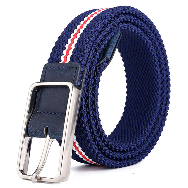 New Design Leather Elastic Belt for Women Fashion Men's Jean Belt High Quality Wholesale
