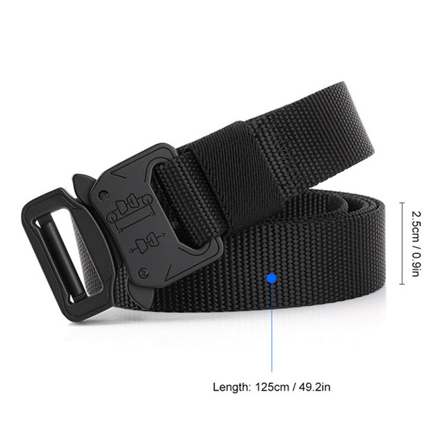 Wholesale Mens Durable Outdoor Alloy Cobra Buckle Army Waist Belts Strap Military Tactical Nylon Fabric Belt